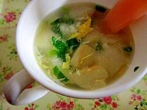 麩入りたまごスープ【完了期】,離乳食,麩,