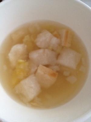 離乳食☆お麩とお芋の味噌汁,離乳食,麩,