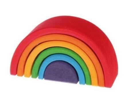 虹色トンネル,積み木,知育,遊び方