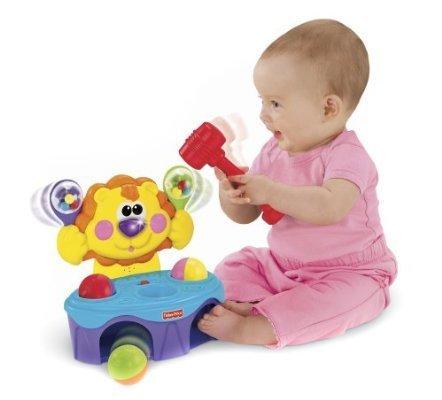 リズムでとんとん!ライオン フィッシャープライス,おもちゃ,女の子,0歳