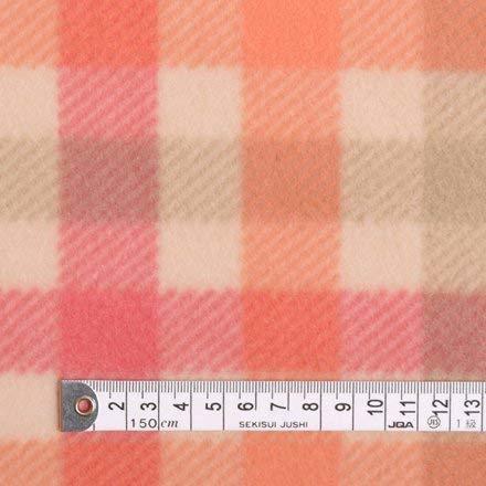 フリース・アプリコットチェック フリース生地 ハンドメイド 手作り用生地 0.5m単位でご注文いただけます。 T00F2200,スリーパー,手作り,