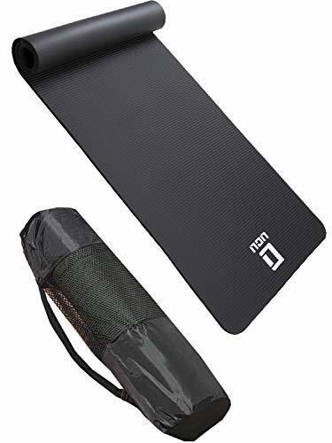 LICLI ヨガマット おりたたみ トレーニングマット エクササイズマット ヨガ ピラティス マット 厚さ 10mm 「 ストラップ 収納ケース付 」「 ニトリルゴム 滑り止め マットバッグ 」 11カラー (ブラック),正産期,過ごし方,