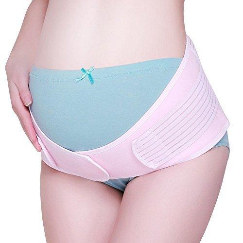【AMAYA】 かんたん装着 ダブルベルト 妊婦帯 腹帯 産前 産後 骨盤矯正 (フリーサイズ) NT01 (ピンク),骨盤ベルト,おすすめ,