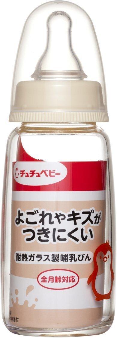 チュチュベビースリムタイプ耐熱ガラス製哺乳びん ,哺乳瓶,人気,おすすめ