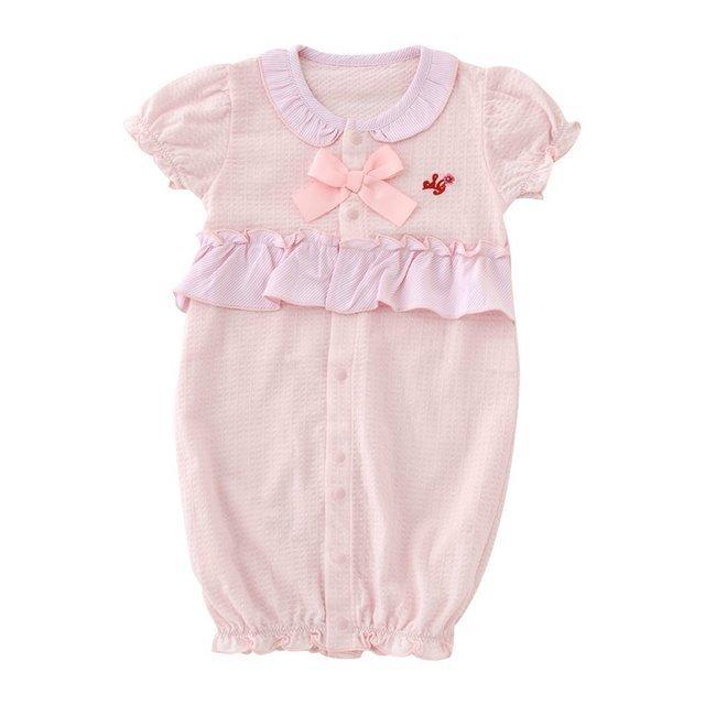 フリルリボン半袖新生児ツーウェイオール,服選び,赤ちゃん,季節