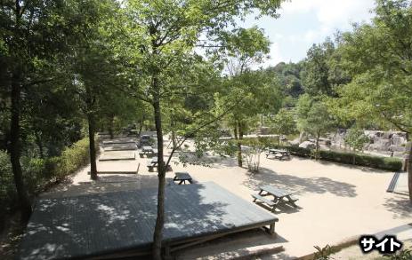 憩いの森公園のデイキャンプサイト,広島,バーベキュー,手ぶら