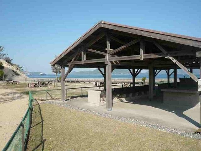 大久野島キャンプ場の炊事場,広島,バーベキュー,手ぶら