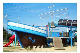 尾道マリンユースセンターの大型遊具,広島,バーベキュー,手ぶら