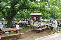 国営武蔵丘陵森林公園の野外炊飯広場(BBQ),埼玉,バーベキュー,