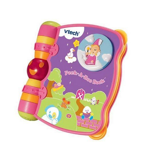 VTech Baby Peek-a-Boo Book (Pink),絵本,おすすめ,1歳