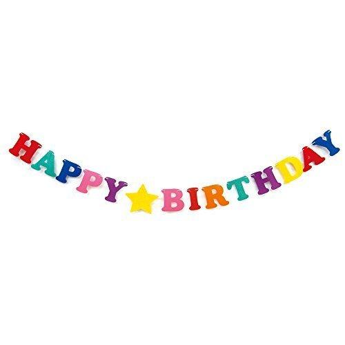 バースデーガーランド ビビッドカラー,1歳誕生日,飾り付け,