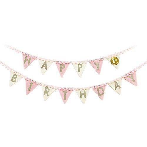 ノルコーポレーション メモリコ ゴールド memorico gold スペシャルバースデーガーランド ピンク,1歳誕生日,飾り付け,