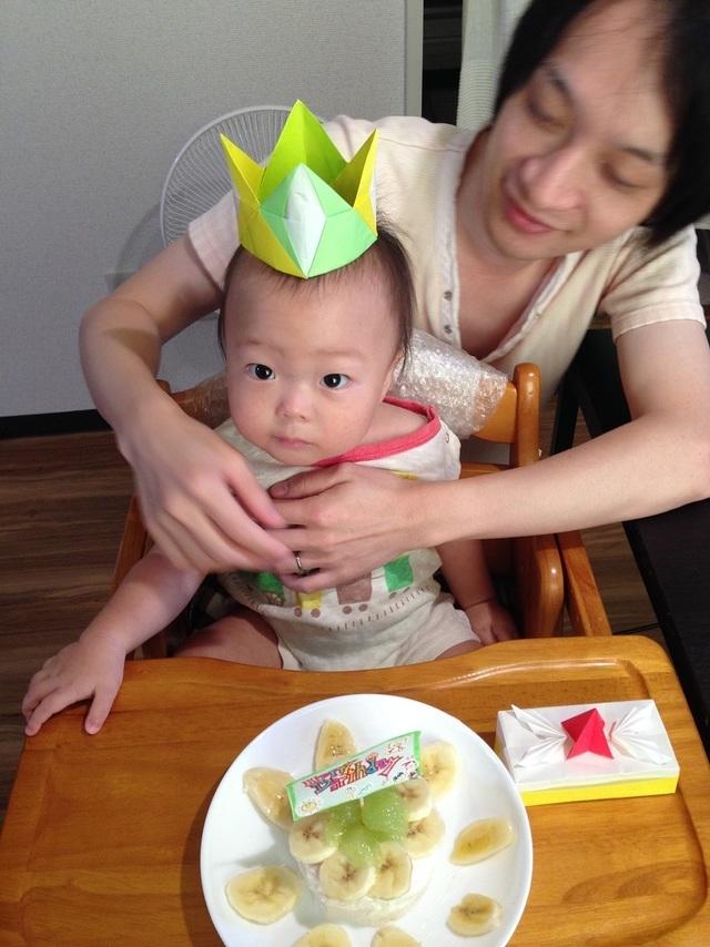 1歳誕生日離乳食ケーキ,1歳,誕生日,祝い