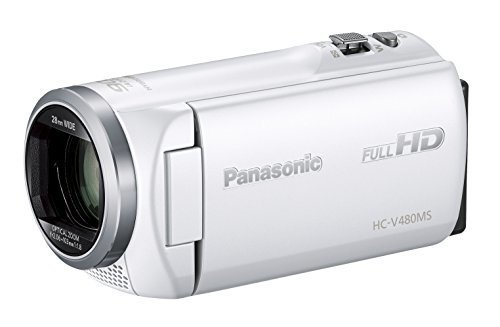Panasonic HDビデオカメラ V480MS 32GB 高倍率90倍ズーム ホワイト HC-V480MS-W,デジタル,ビデオ,カメラ