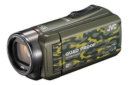JVC ビデオカメラ Everio R 防水5m 防塵仕様 Wi-Fi対応 内蔵メモリー64GB カモフラージュ GZ-RX600-G,デジタル,ビデオ,カメラ