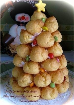 ミニシューでクリスマスツリー・クロカンブッシュ ,クリスマス,ディナー,レシピ