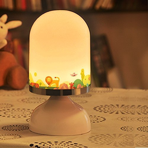 E-More 充電式ベッドサイドランプ 振動センサー点灯/消灯 赤ちゃんライト 節電ライト 雰囲気作り 省エネ 停電 エコ 自宅防犯 夜間照明 室内用 夜間ライト 便利  (動物),家電,おすすめ,ファミリー