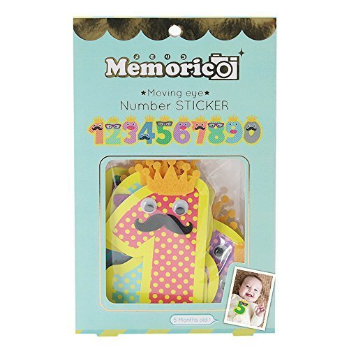 ノルコーポレーション メモリコ memorico ムービングeye★ ナンバーステッカー 10pcsセット,誕生日,飾り,