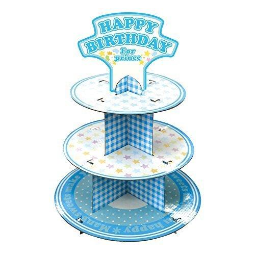 メモリコ カップケーキスタンド ブルー ノルコーポレーション BDZ0802,誕生日,飾り,