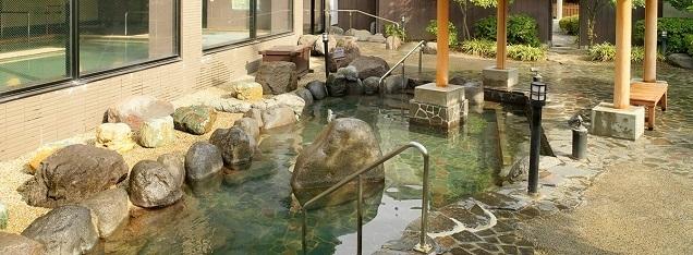 大江戸温泉物語の男性用露天風呂,温泉,東京近郊,