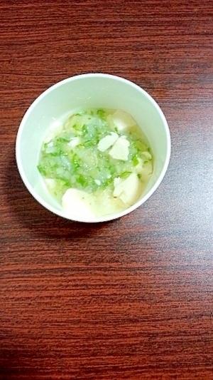 【離乳食中期】オクラと色々野菜のトロトロ豆腐,離乳食,かぶ,