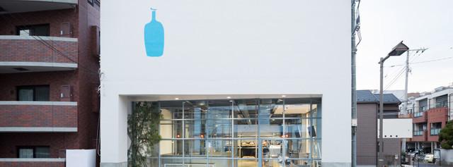BLUE BOTTLE COFFEE 清澄白河の外観,清澄白河,おしゃれ,カフェ