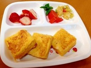 離乳食フレンチトースト(≧∇≦),離乳食,朝ごはん,