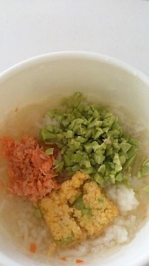 卵と鮭と枝豆のにゅうめん離乳食,離乳食,枝豆,