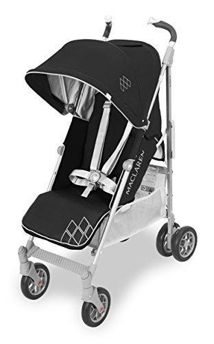 Maclaren Techno XT ベビーカー - 軽量、コンパクトブラック/シルバー,マクラーレン,ベビーカー,