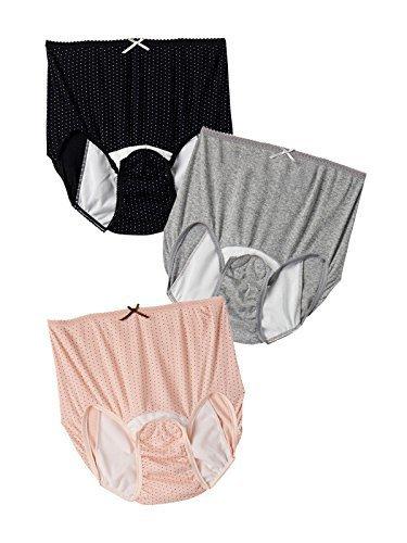 ANGELIEBE エンジェリーベ マタニティ インナー 3枚組 産褥 ショーツ 下着 肌着 産後 出産準備 パンツ M~L ブラック ドット×グレー ドット×ピンク ドット 24279202,産褥ショーツ,おすすめ,選び方