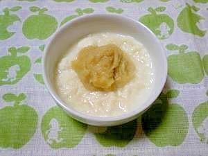 <離乳食初期>バナナパン粥,離乳食,パン,