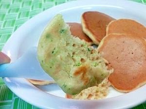 【離乳食】ツナ&ブロッコリーのパンケーキ,離乳食,パンケーキ,