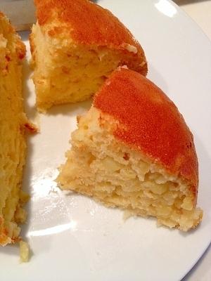 離乳食☆HM使用の炊飯器で簡単!林檎ケーキ,離乳食,パンケーキ,
