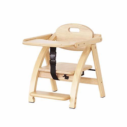 yamatoya アーチ木製ローチェアⅢ ナチュラル,離乳食,椅子,