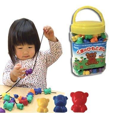 七田(しちだ)オリジナルひもとおし くまのひもとおし 6ヶ月~4歳,1歳,おもちゃ,