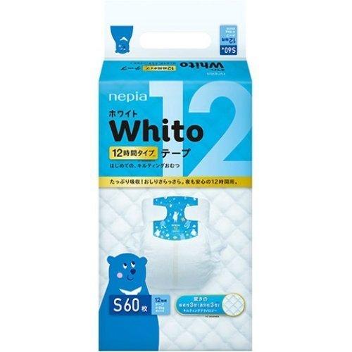 ネピア Whito ホワイトテープ Sサイズ 12時間 60枚,おむつ,Sサイズ,