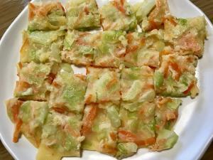 【離乳食後期】野菜たっぷりお好み焼き,離乳食,お好み焼き,