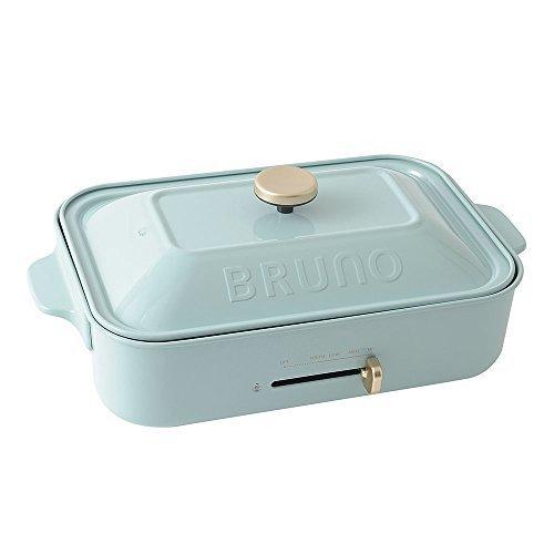 BRUNO ホットプレート コンパクトサイズ ブルーグレー 平面 たこ焼きプレート セット,離乳食,お好み焼き,