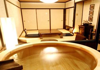 山海亭,静岡,個室,露天風呂