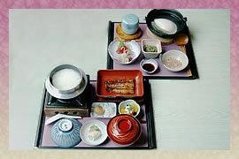 食事の例,正徳寺温泉 初花,うなぎ,おすすめ