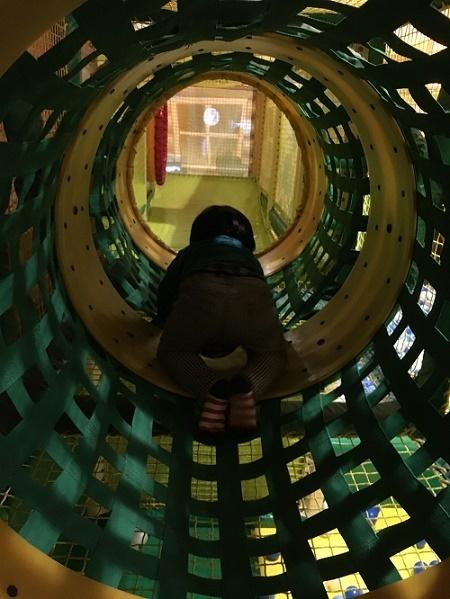 2階のトンネル,お台場,ラウンドワン,