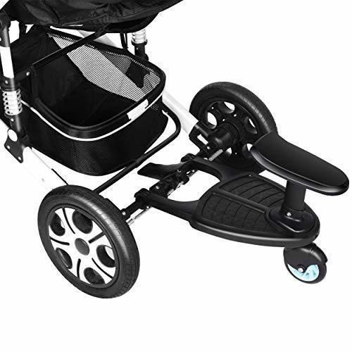 OBOR ベビーカーステップ 静音ラバータイヤとサスペンションで快適乗り心地 上の子も下の子も一度にお迎えできる ステップ付きベビーカー 二つ子供が出かける便利 (1),二人目 ,出産,必需品