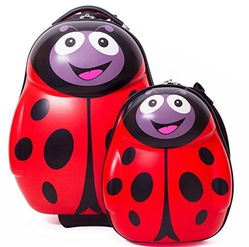 子供用 スーツケース 乗って遊べる子供用キャリーケースライディングおもちゃ 本体軽い 乗客キャビンに持ち込み可能 トランク (てんとう虫),二人目 ,出産,必需品