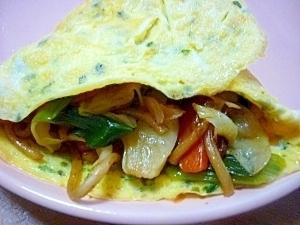 ポテト入り卵のオムそば,お弁当,麺,