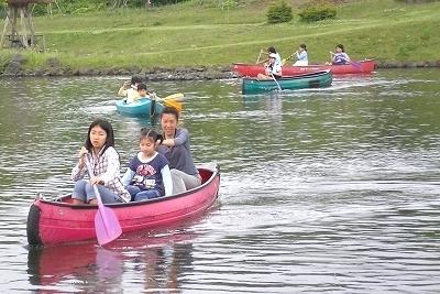 富士山「こどもの国」のカヌー体験,富士山こどもの国,キャンプ,