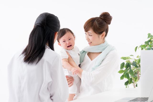 親子病院イメージ,中耳炎,赤ちゃん,