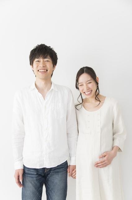妊婦と夫,妊娠,35週,胎児