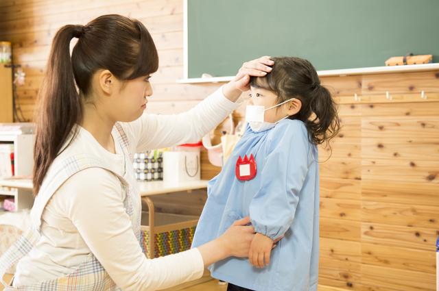 幼稚園,子供,風疹,