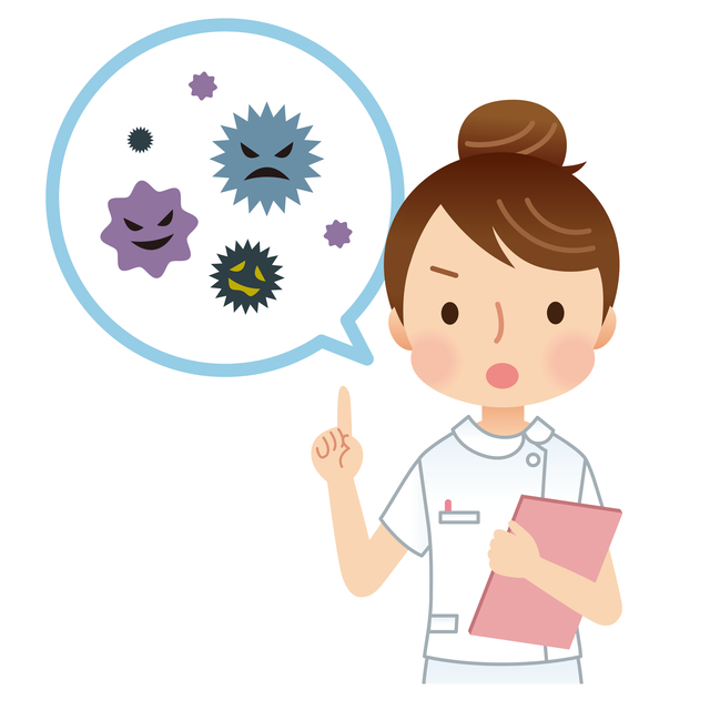 ウィルス説明医師,ウイルス性胃腸炎,子供,