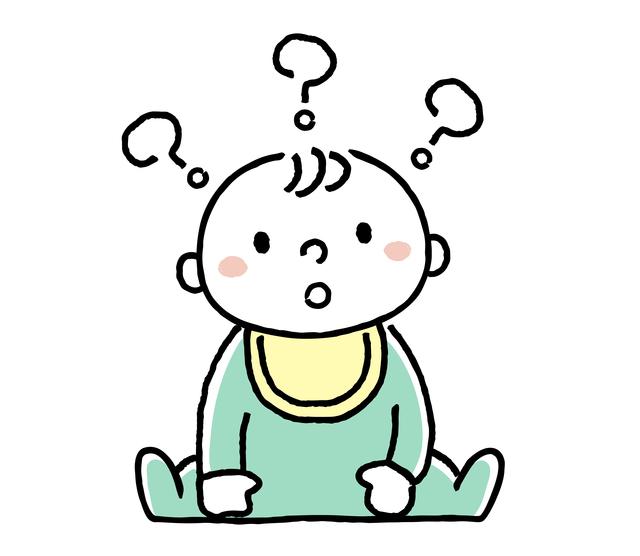 赤ちゃん疑問のイメージイラスト,腸重積,赤ちゃん,